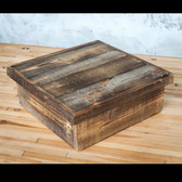 Reclaimed Wood Cake Box