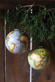 "4"" Rnd Globe Ornament, 2 Colors"