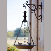 Hanging Bird Feeder Ranch Rust Finish