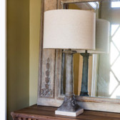Aged Column Lamp