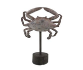 "11"" Crab on Pedestal"