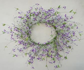 """29"""" Forget-Me-Not & Berry Wreath"""