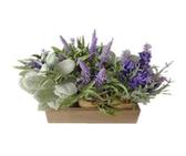 "9"" Lavender & Lambsear in Burlap"