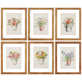 "9.75"" Floating Floral Framed Print Asst"