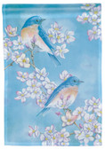 Blue Bird Blossoms Impression Garden Flag