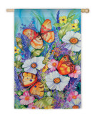 Bright Butterfly Garden Flag