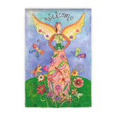 """Welcome"" Angel Garden Flag"
