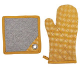 "12.25""L Cotton Polka Dot Hot Mitt"