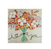 """16"""" Square Flower Bouquet Canvas Wall Décor"""
