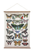 "41.5""H Butterfly Canvas & Wood Scroll Wall Décor"