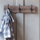 Wall Mounted Coat Rack with 3 Hooks