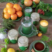 Culinary Green Crockery Candle