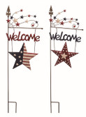 "Metal Patriotic""Welcome"" Stake 2 Styles"