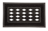 Sassafras Decorative Mat Tray with Black Scroll Design