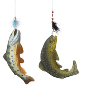Fish on a Hook Ornament