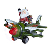 "9.5"" Animated Musical Santa in a Plane"
