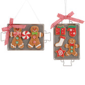 "6"" Cookie Sheet Gingerbread Ornament"