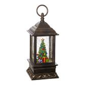 "9.5"" Christmas Tree Lighted Water Lantern"