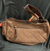 Solid Mini Hobo Handbag Brown