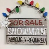 For Sale Snowman