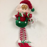 Fabric Hanging Elf Ornament
