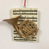 Brass Instrument with Music