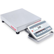 Ohaus D52XW25RQR5, Low Profile Stainless Steel Bench Scale, 50 lb x 0.01 lb NTEP