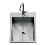 """15"""" Delta Heat Outdoor Sink DH0S15 (Cold Faucet Included)"""