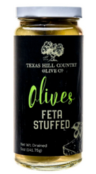 Feta Stuffed Olives 5 oz - Texas Hill Country Olive Co