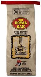 Chef's Select Royal Oak Briquettes - 20 lbs