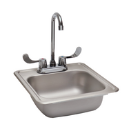 """Stainless Steel Sink, 15""""x15"""""""