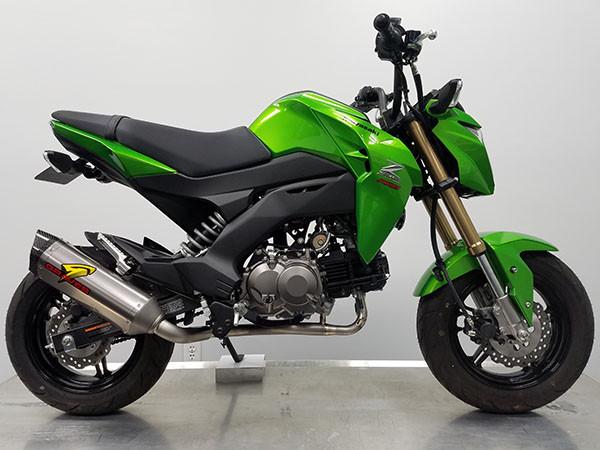 Graves Motorsports Kawasaki Z125 Pro Full Titanium Exhaust System