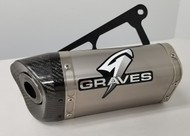 Graves Motorsports Kawasaki Ninja EX300 Cat Back Exhaust