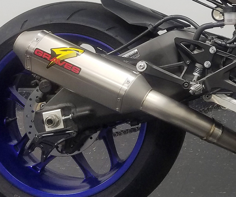 Graves Motorsports Yamaha R1 Cat Eliminator Titanium Exhaust