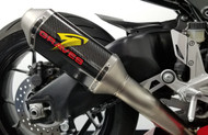 Honda CBR1000rr Cat Back Slip-on Exhaust Carbon