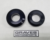Graves Motorsports WORKS Kawasaki ZX-10R Rear Wheel Captive Spacers Kit