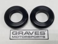 Graves Motorsports WORKS Kawasaki Ninja 400 Front Wheel Captive Spacers Kit