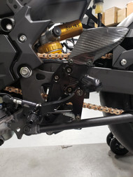 Shift Side Rearsets show with MotoAmerica required HM shifter