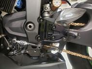 Graves Motorsports WORKS Kawasaki ZX-6R Adjustable Rearsets