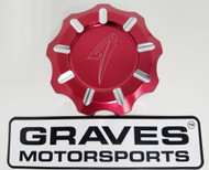 Kawasaki Teryx KRX 1000 Billet Machined Gap Cap - Red