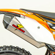 Titanium Diamond Dual Sport / Offroad Slip-on Exhaust - Carbon End Cap