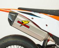 KTM - Husqvarna - Gas Gas Titanium Slip-on Exhaust - Carbon End Cap