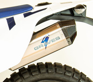KTM 690 Enduro R - Husqvarna  701 Enduro R Titanium Slip-on Exhaust - Carbon End Cap