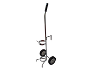 "Single Cylinder Adjustable Oxygen Cart For One D or E (4.38"" DIA) Style Oxygen Cylinder (1046)"