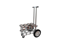 """Oxygen Cylinder Cart For 12 D or E (4.38"""" DIA) Style Oxygen Cylinders (1075)"""