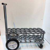 "Oxygen Cylinder Cart For 24 D or E (4.38"" DIA) Style Oxygen Cylinders (1080)"