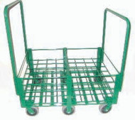 "Heavy Duty Oxygen Cylinder Cart With Removable Handle For 48 D or E (4.38"" DIA) Style Oxygen Cylinders (1081SHD)"