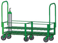 "Heavy Duty Oxygen Cylinder Cart For 40 D or E (4.38"" DIA) Style Oxygen Cylinders (1082HD)"