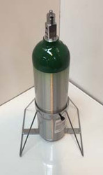 "Single Capacity Ground Stand For One D or E (4.38"" DIA) Style Oxygen Cylinders (1084)"