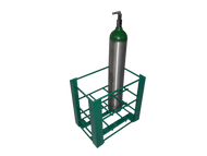 """Heavy Duty Oxygen Cylinder Rack For Eight D or E (4.38"""" DIA) Style Oxygen Cylinders (1100HD)"""